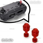 2 Pcs Red Aluminum Transmitter Stick Joystick For DJI Mavic Air Remote Control