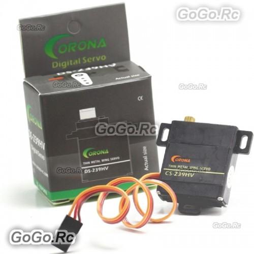 1 Pcs Corona DS-239HV Digital Slim Wing Servo (Metal Gear) 4.6kg / 0.13sec / 22g