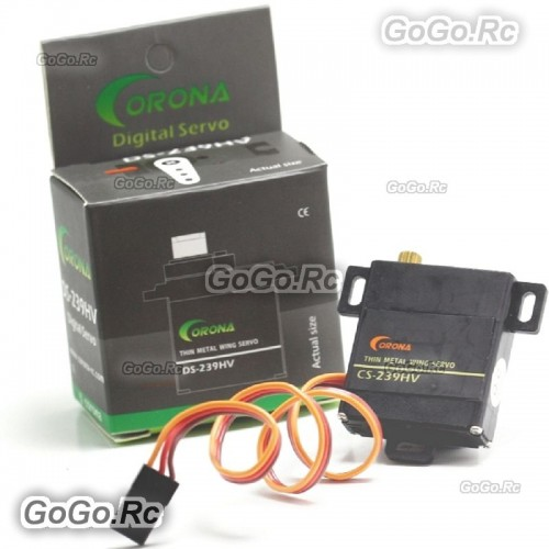 4 Pcs Corona DS-239HV Digital Slim Wing Servo (Metal Gear) 4.6kg / 0.13sec / 22g