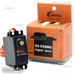 1 Pcs Corona DS558MG Metal Gear Digital Servo 10kg 0.2sec 58g Rc Hobby DS-558MG