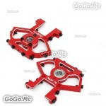 ALZRC CNC Metal Servo Mount Red For Devil X360 Gaui X3 RC Helicopter - DX360-13M