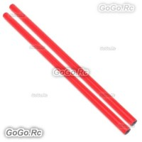 2 Pcs ALZRC 400mm Red Tail Boom Belt Version For Devil X360 Gaui X3 Helicopter