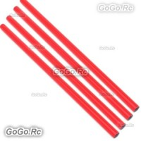 4 Pcs ALZRC 400mm Red Tail Boom Belt Version For Devil X360 Gaui X3 Helicopter