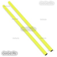 2x ALZRC 400mm Yellow Tail Boom Belt Version For Devil X360 Gaui X3 Helicopter