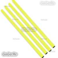 4x ALZRC 400mm Yellow Tail Boom Belt Version For Devil X360 Gaui X3 Helicopter