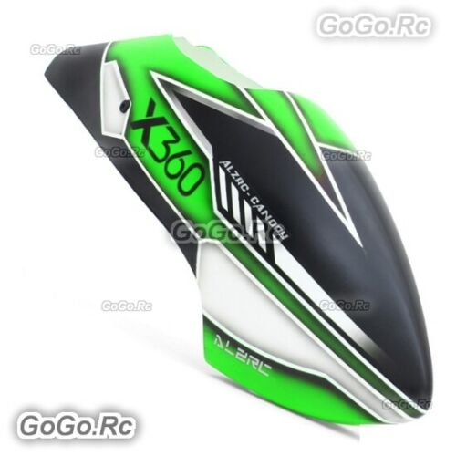 ALZRC Fiberglass Canopy -19-B For Devil X360 Gaui X3 RC Helicopter Green Black