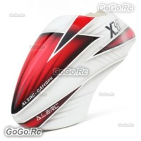 ALZRC Fiberglass Canopy - P-A For Devil X360 Gaui X3 RC Helicopter Red White
