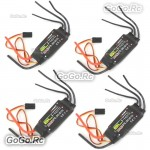 4x Emax BLHeli Series 30A ESC Speed Controller 2A 5V BEC for Multicopters Drone