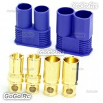 1 Pair 8mm EC8 Bullet Connector Male + Female Plugs Adapters Battery Losi