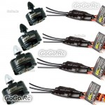 4 Pcs Emax MT2204 2300KV CW CCW Motor & SimonK 12A ESC Speed Controller For FPV