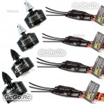 4 Pcs Emax MT1806 2280KV CW CCW Motor & SimonK 12A ESC Speed Controller For FPV