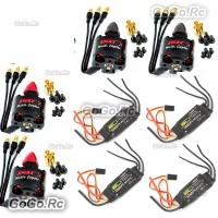 4 Pcs Emax MT2213-935KV CW CCW & BLHeli 30A ESC Speed Controller DJI Quadcopter