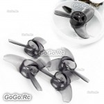 2 Pairs EMAX Black Avan Tinyhawk 40mm Props Blades For Indoor Flying 08025 Motor