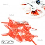 EMAX Avan Tinyhawk Turtlemode 40mm 4-Blade Propeller For 08025 Drone Motor Red