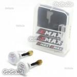 2 x EMAX 5.8G 5dBi 50W 50mm Omni FPV Drone Pagoda II Antenna LHCP SMA Pin White