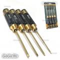 Titanium Nitride TiNi Hex Hexagon 1.5 2.0 2.5 3.0mm 4 In 1 Screwdriver Tools GD