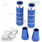 Aluminum Transmitter Extra Long Stick Blue M4 Size For RC Model Transmitter