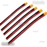 5 x Amass XT30U Female Connector XT30 Plug with 14awg silicone Wire Lipo Battery