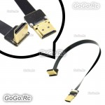 20cm FPV HDMI Type A Male to Down Angled 90 Degree HDMI Male HDTV FPC Flat Cable