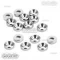 15 Pcs Aluminum Countersunk Washers Gaskets Silver For M2.5 Screws