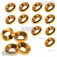 15 Pcs Aluminum Countersunk Washers Gaskets Gold For M2.5 Screws