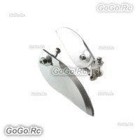 1 Pair 82mm Metal Turn Fins For Large Electric Steering RC Model Boat 82x30mm