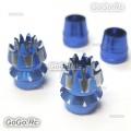 Aluminum 3D Anti-Slip Transmitter Stick Blue For M4 Size or 4mm - F104-BUM4