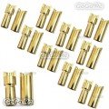 10 Pairs 5.5 mm Gold Bullet Connector for Battery Motor Esc Rc Model