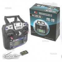 Flysky FS-i6 AFHDS 2A 2.4GHz 6CH Radio Transmitter+Receiver RC Multicopter w/box