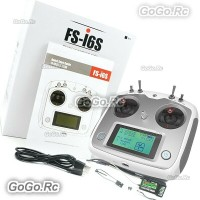 Flysky FS-i6S 2.4G 10CH 2A AFHDS Radio Transmitter TX and FS-iA6B Receiver White