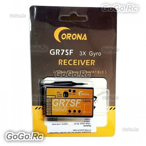 GR7SF CORONA 7CH 2.4G S-FHSS Receiver With Gyro Compatible Futaba Transmitter
