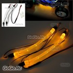 Chassis Body Yellow Light Strip Rope Tube For RC Drift Car Truck Buggy Heli