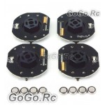 4 Pcs GT POWER RC Car Dynmaic Wheel Light LED Set Blue (GT004BU)