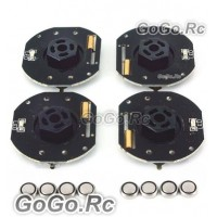 4 Pcs GT POWER RC Car Dynmaic Wheel Light LED Set Green (GT004GN)
