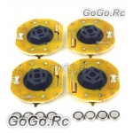 4 Pcs GT POWER RC Car Dynmaic Wheel Light LED Set Orange (GT004OR)