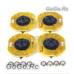 4 Pcs GT POWER RC Car Dynmaic Wheel Light LED Set Red (GT004RD)