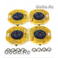4 Pcs GT POWER RC Car Dynmaic Wheel Light LED Set Red (GT004RD)