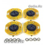 4 Pcs GT POWER RC Car Dynmaic Wheel Light LED Set White (GT004WH)