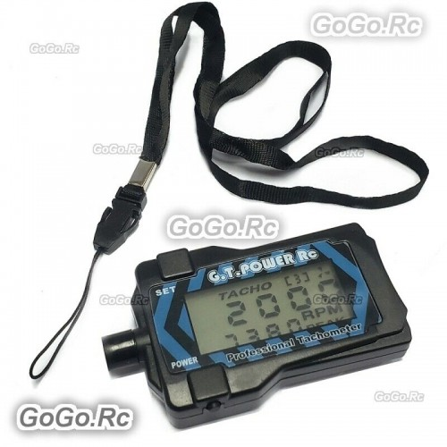 GT POWER Professional Motor RPM Tachometer Blue For RC Heli Aircraft Plane