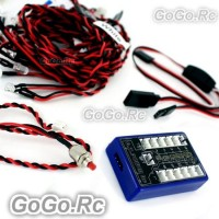 G.T.POWER 12 LED RC Car Flashing Light System (GT001)