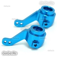 102011 1:10 Upgrade Parts Aluminum Steering Hub (L/R) Blue For HSP RC Car