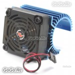 Hobbywing Cooling Fan and Heat Sink Combo C1 for 3660 3674 Motor 1:8 RC Car Blue