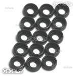 15 x Main Frame Hardware Washers Body Gaskets Black For M2.5 Screws 450 PRO 500