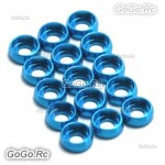 15 x Main Frame Hardware Washers Body Gaskets Blue For M2.5 Screws 450 PRO 500