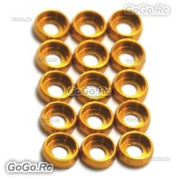 15 x Main Frame Hardware Washers Body Gaskets Gold For M2.5 Screws 450 PRO 500
