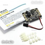 Matek LED POWER HUB 5 in1 V3 Power Supply Board + BEC 5V 12v + Low Voltage Alarm