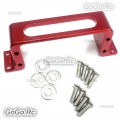 Red Servo Mount Screw Down Type CNC Aluminium Alloy for Standard Servos RC Boat
