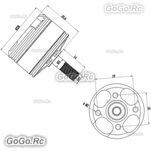 2 Pcs Gartt Qe2206 2000kv Brushless Motor Cw Ccw For 210 250 300