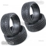 4 Pcs 1/10 RC On Road Drift Car HPI Drift Tyre 26mm Hard Plastic Tires