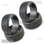 4 Pcs 1/10 RC On Road Drift Car HPI Drift Tyre 26mm Hard Rubber Tires PY0022X4